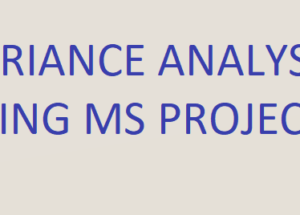 Variance Analysis using MS Project